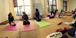 Yogastunde mit Mahi
