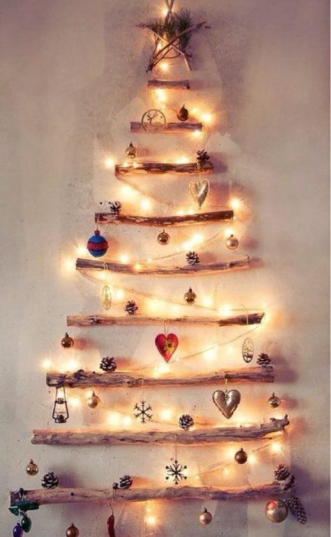 Treibholz Upcycling Weihnachtsbaum