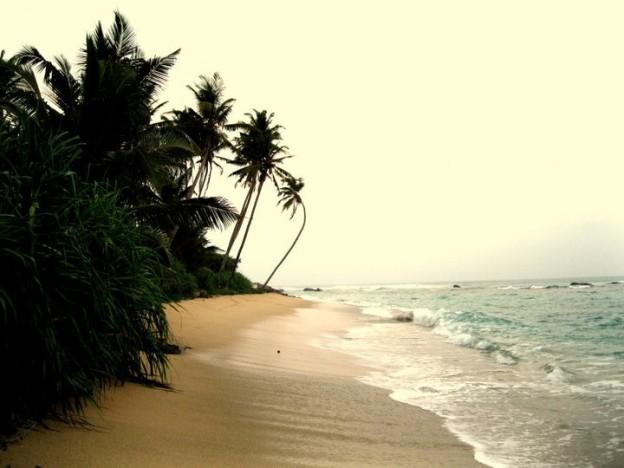 Einsamer Strand in Matara, Sri Lanka