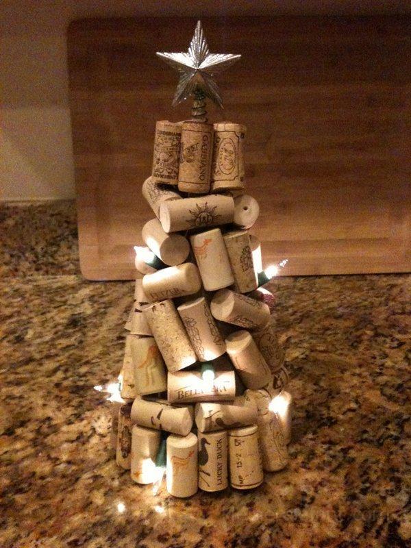Upcycling Weihnachtsbaum aus alten Korken