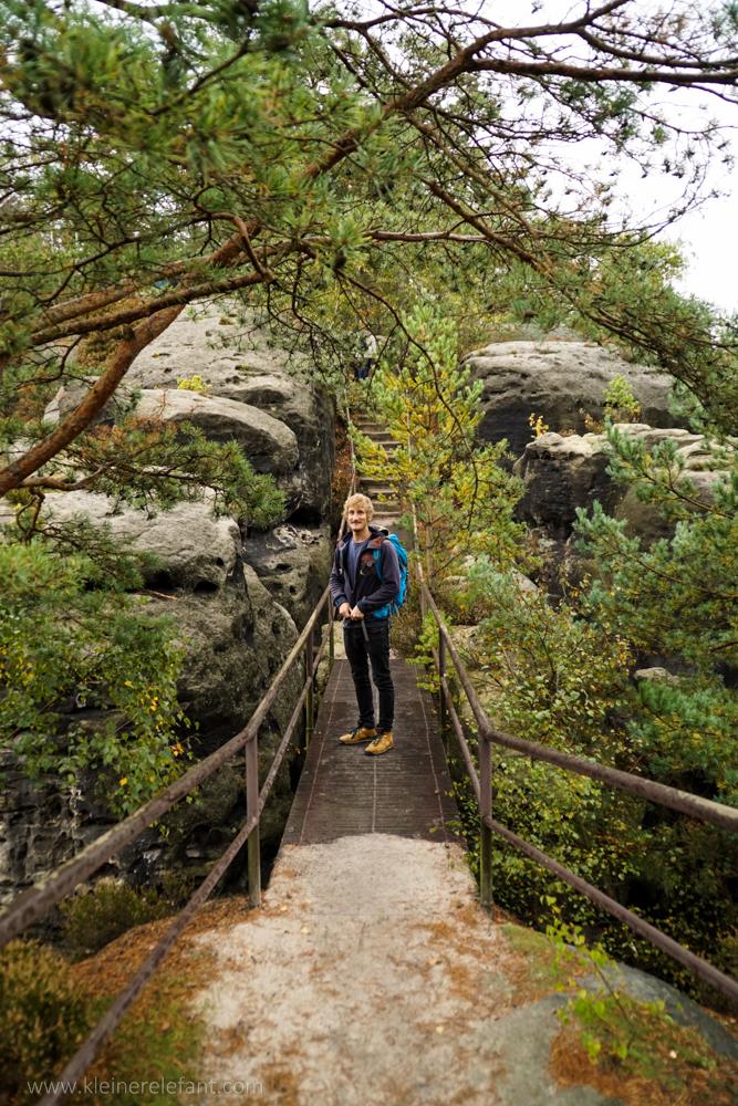 Brücke auf dem Rauenstein im Elbsandsteingebirge