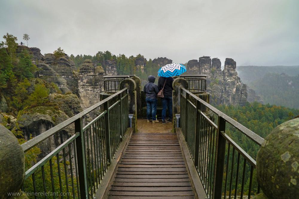 Aussicht von der Basteibrücke