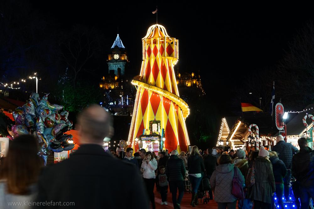 Edinburgh European Market by night