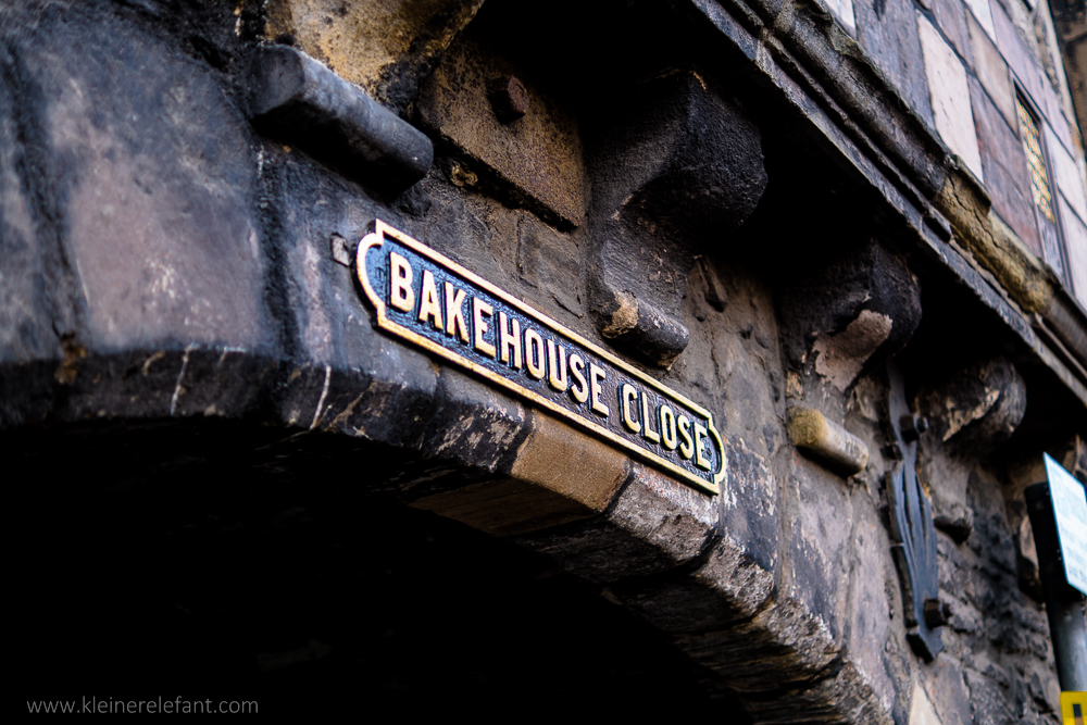 Bakehouse Close in Edinburgh