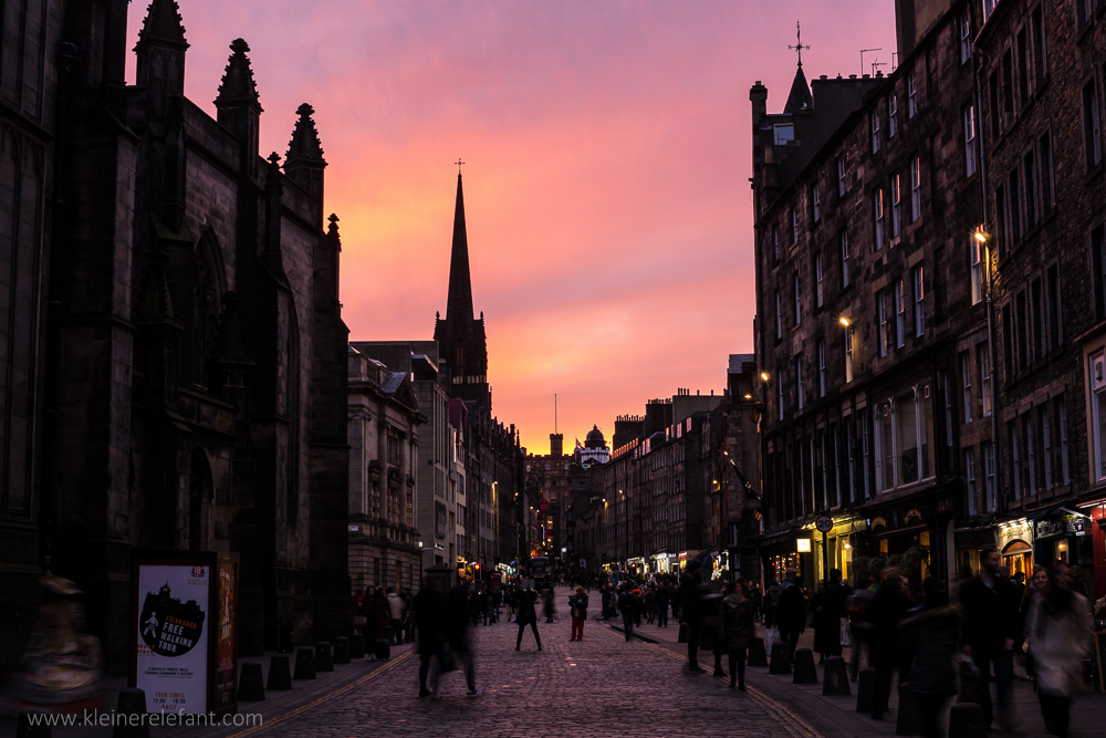 Edinburgh Royal Mile Sunset