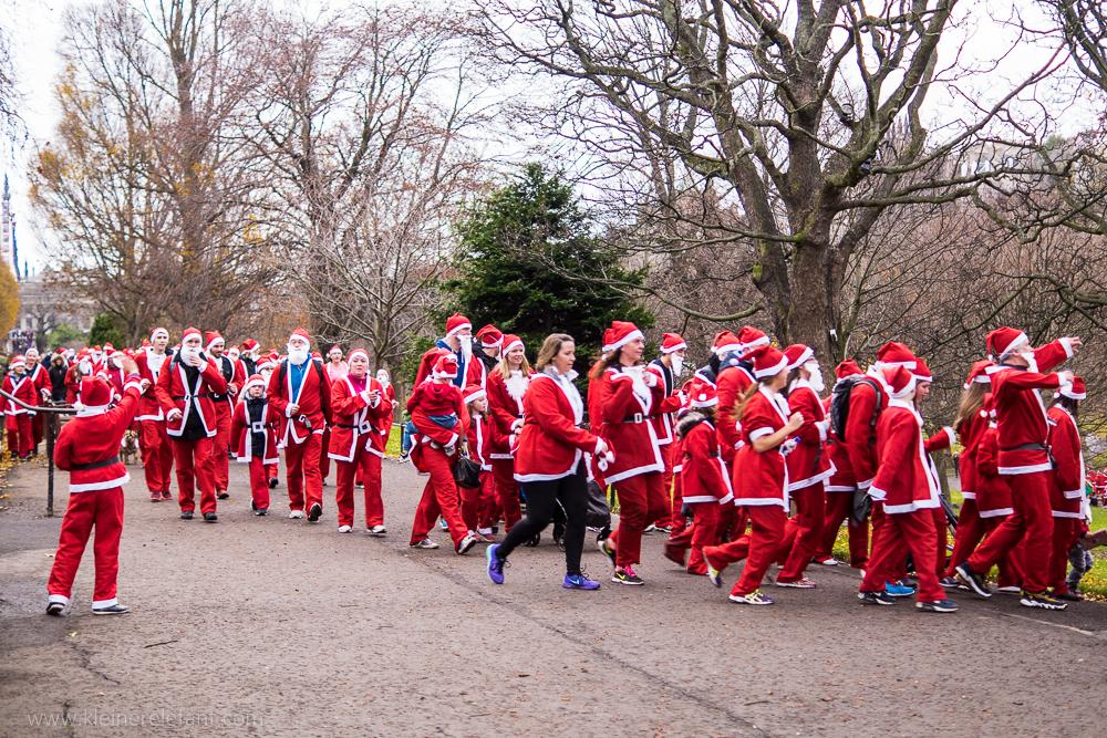 Edinburgh Santa Fun Run