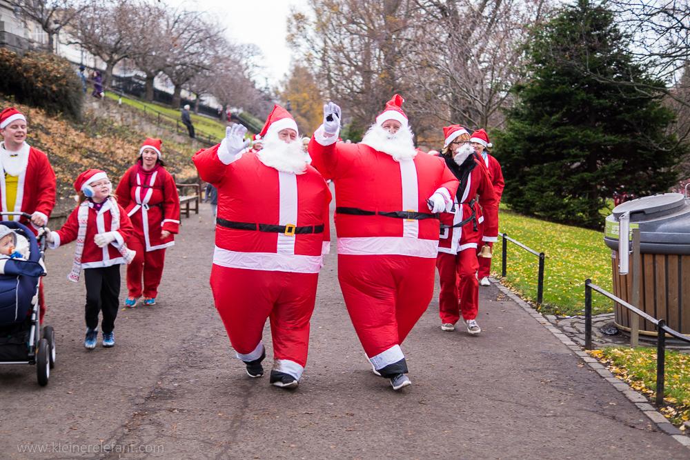 Edinburgh zur Weihnachtszeit: Santa Fun Run