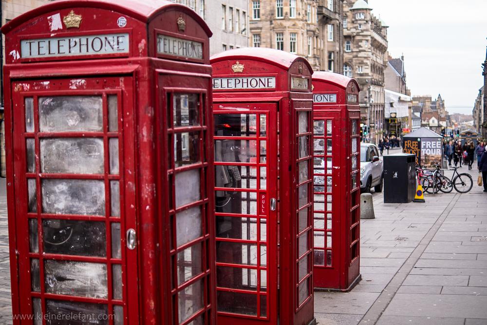 Telefonzellen in Edinburgh
