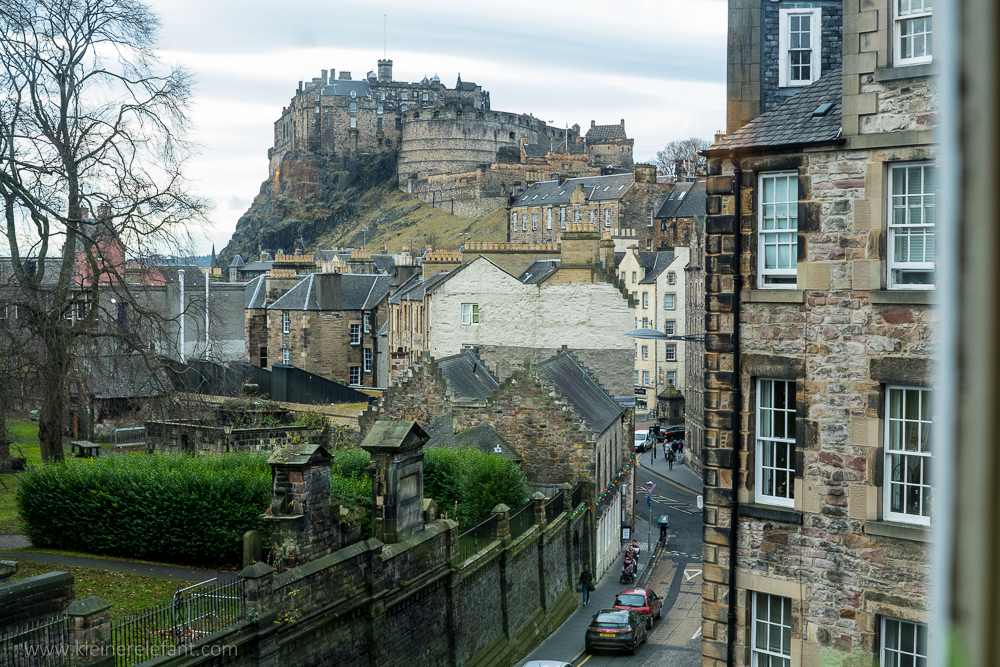 View from The Elephant House in Edinburgh