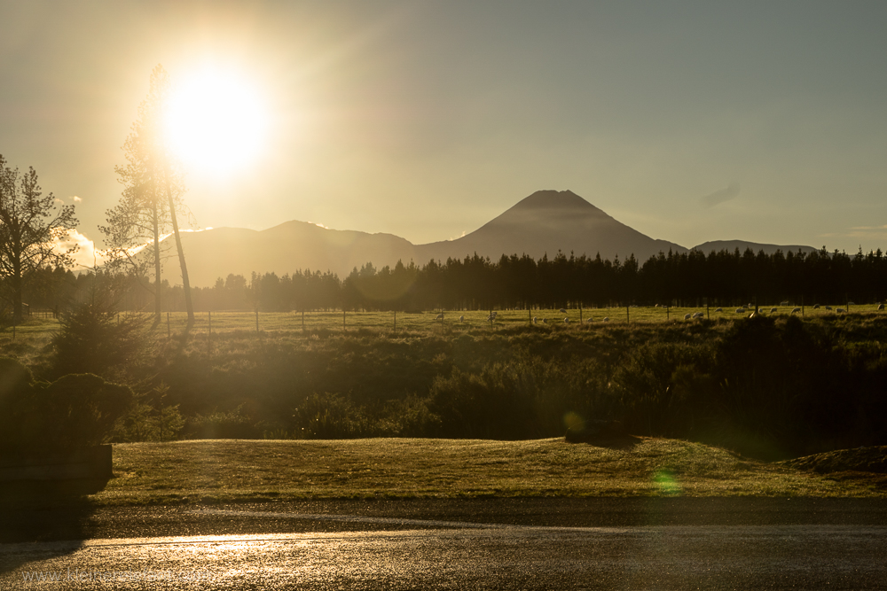 Sunrise over Tongariro Nationalpark