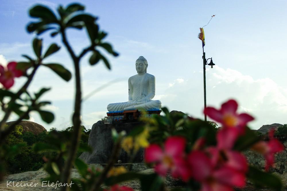 Buddha auf Felsentempel