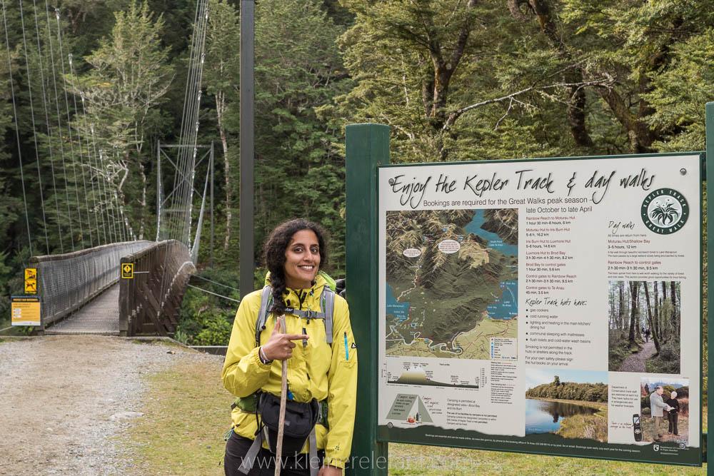 Shirani auf dem Kepler Track