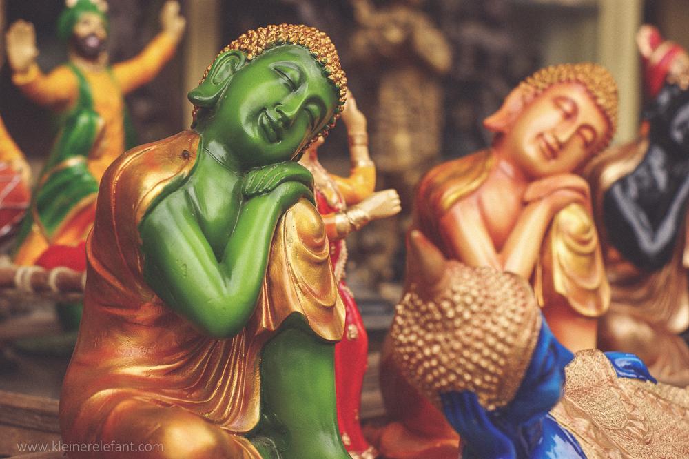 Buddha Figuren in Dharamsala