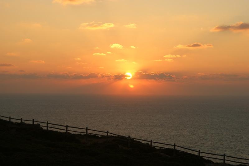 Schöner Sonnenuntergang Cabo da Roca.