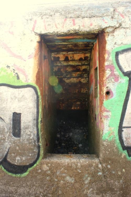 Der Bunker von innen.
