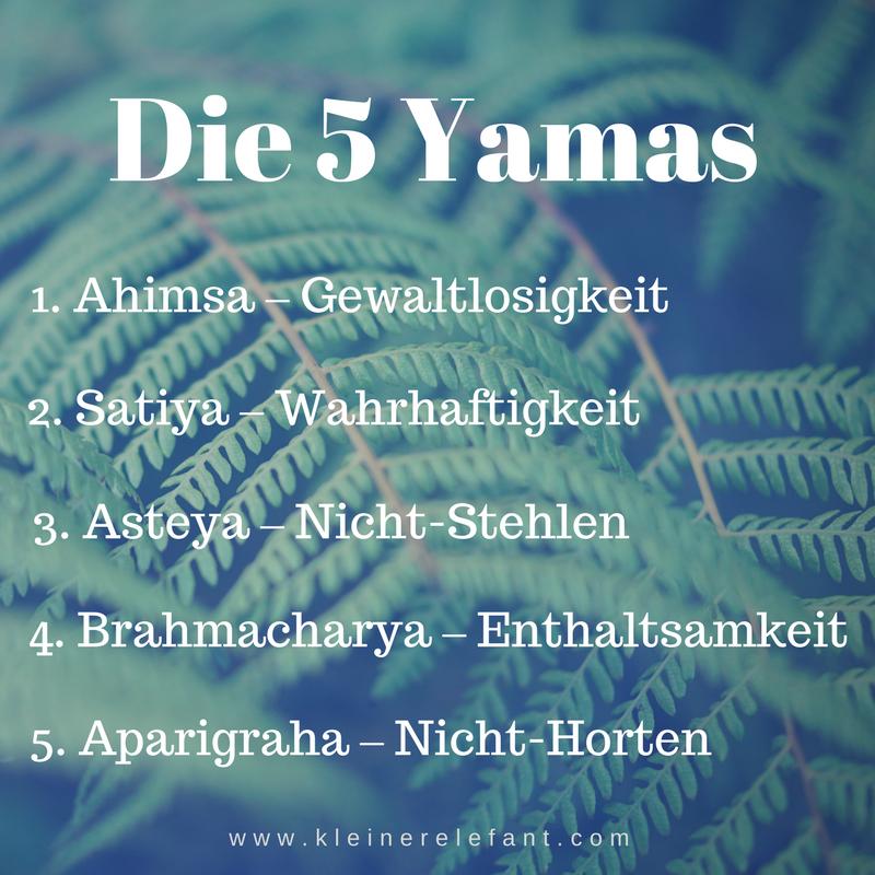 Die 5 Yamas Yoga Philosophie