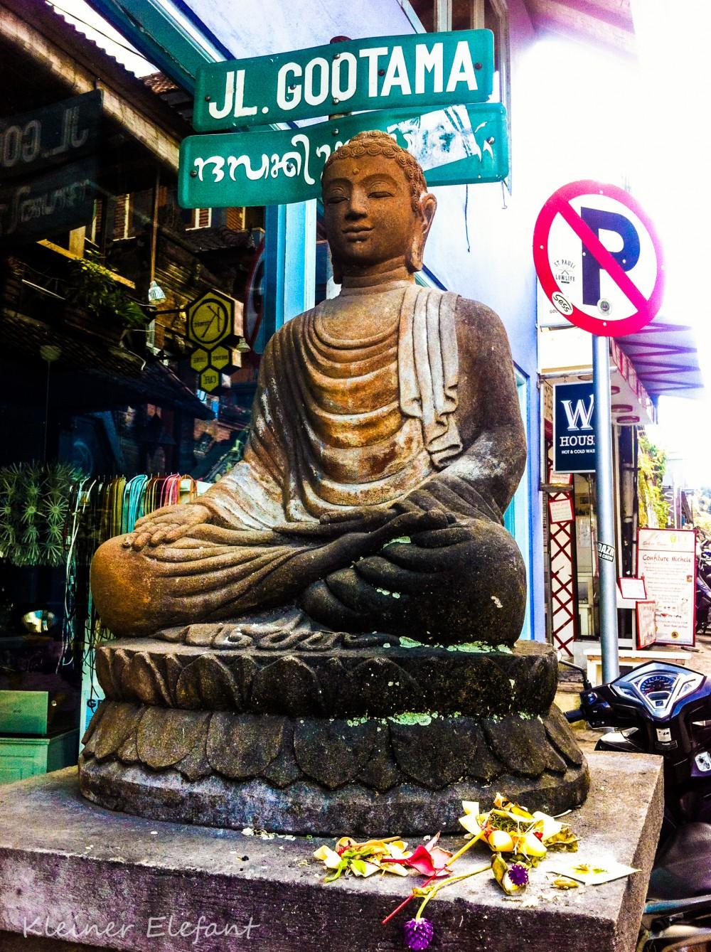 Buddha in der Jalan Goutama
