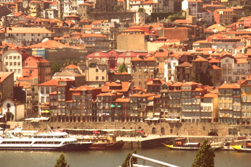 Blick auf Portos Altstadt von der Vila Nova de Gaia