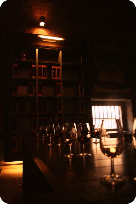 Das Ziel der Reise: Eine Weinverkostung bei Calém.