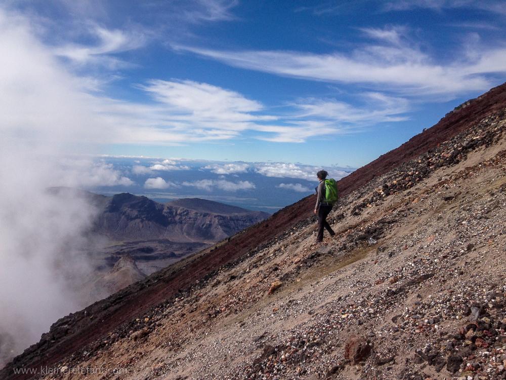 Girl at Mount Doom or Mount Ngaurohoe