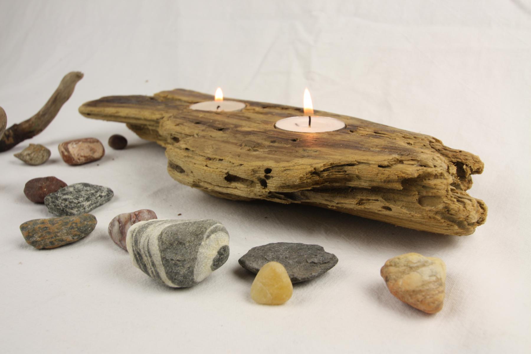 Kerzenhalter aus Treibholz
