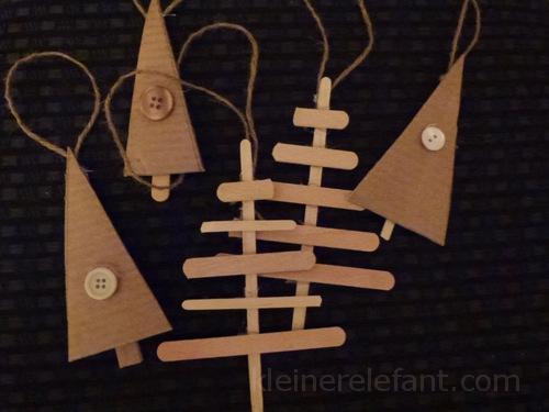 Upcycling Weihnachtsschmuck aus alten Eisstäbchen.