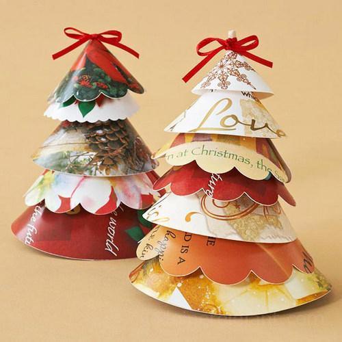 Upcycling Weihnachtsschmuck aus alten Weihnachtskarten